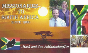 Mark and Sue Schladenhauffen to South Africa