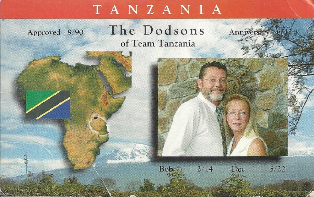 Bob and Dee Dodson to Tanzania